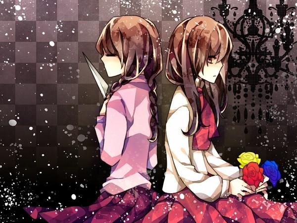 Tags: Anime, Pixiv Id 2723277, Yume Nikki, Ib, Madotsuki, Ib (Character), PNG Conversion, Pixiv, Fanart From Pixiv, Fanart