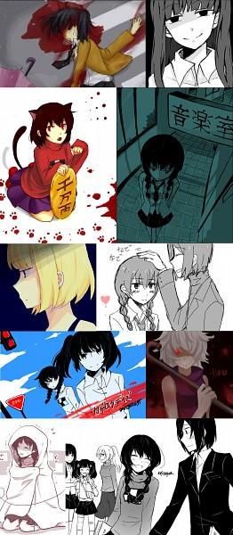 Tags: Anime, Kuroha Ai, Yume Nikki, Yume Nisshi, .flow, Poniko, Monoko, Sabitsuki, Monoe, Sekomumasada Sensei, Madotsuki, Usotsuki, Kagerou Project (Parody)