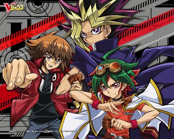 Tags: Anime, Takahiro Kagami, Studio Gallop, Yu-Gi-Oh! ARC-V, Yu-Gi-Oh!, Yu-Gi-Oh! Duel Monsters, Yu-Gi-Oh! GX, Sakaki Yuya, Yami Yugi, Juudai Yuuki, Wallpaper, Official Art, Official Wallpaper