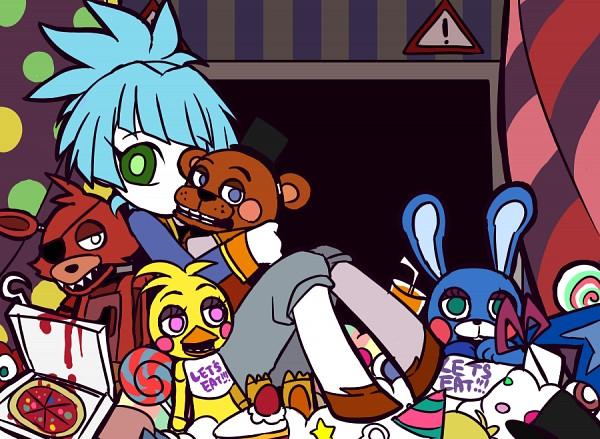 Tags: Anime, Pixiv Id 2113683, Five Nights at Freddy's, Yu-Gi-Oh!, Yu-Gi-Oh! ARC-V, Shiunin Sora, Panty and Stocking with Garterbelt (Parody), Stuffed Duck, PSG Character Design, Fanart From Pixiv, Fanart, Pixiv