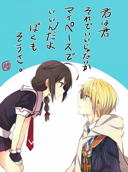 Tags: Anime, Eikichi (Yukiti09), Touken Ranbu, Kantai Collection, Yamanbagiri Kunihiro, Shigure (Kantai Collection), Mobile Wallpaper