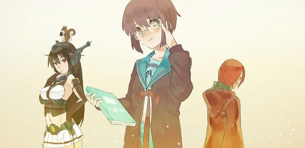 Tags: Anime, Nanaya (Daaijianglin), Suzumiya Haruhi no Yuuutsu, Kantai Collection, NARUTO, Nagato (Kantai Collection), Nagato Yuki, Nagato (NARUTO), Fanart From Pixiv, Facebook Cover, Fanart, Pixiv