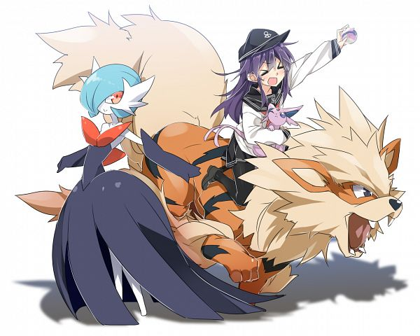 Tags: Anime, MtU, Kantai Collection, Pokémon, Arcanine, Akatsuki (Kantai Collection), Espeon, Gardevoir, Wallpaper