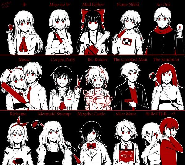 Tags: Anime, Adricarra, Re:Kinder, Mogeko Castle, Yume Nikki, Ib, Mad Father, Ningyo Numa, Misao, Hello? Hell...O?, Kirisame ga Furu Mori, Strange Man Series, Majo no Ie