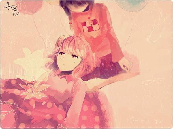 Tags: Anime, Pixiv Id 2603770, Yume Nikki, Dreaming Mary, Mary (Dreaming Mary), Madotsuki, Dotted Line, Spotted Skirt, Faceless, PNG Conversion, Pixiv, Wallpaper, Fanart