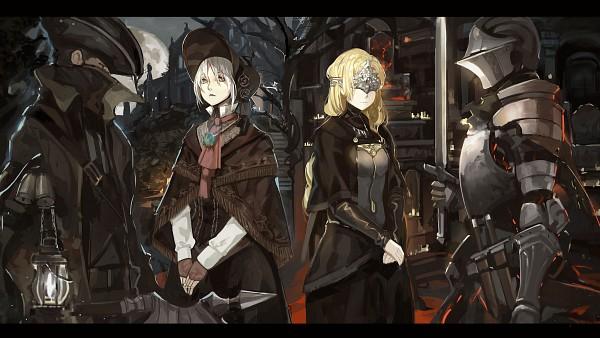 Tags: Anime, Saberiii, Dark Souls III, Bloodborne, Dark Souls, Plain Doll, Protagonist (Dark Souls), Fire Keeper, The Hunter (Bloodborne), Company Connection, Knight, Ball Jointed Doll, Wallpaper
