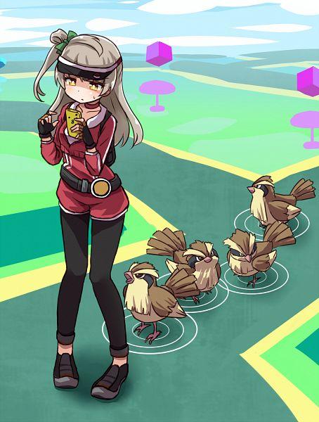 Tags: Anime, Sikei, Love Live!, Pokémon, Pidgey, Minami Kotori, Pokémon GO (Activity), Female Protagonist (Pokémon GO) (Cosplay), Holding Phone, Revision, Mobile Wallpaper, PNG Conversion