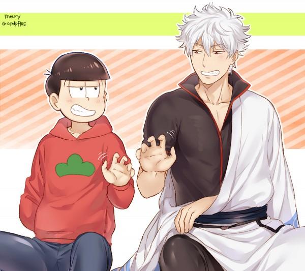 Tags: Anime, mery (dpqpqp550), Gintama, Osomatsu-kun, Sakata Gintoki, Matsuno Osomatsu, Fanart From Pixiv, Fanart, Pixiv
