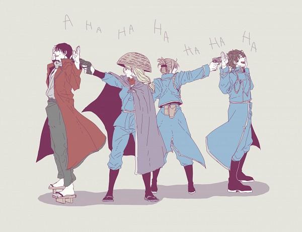 Tags: Anime, Pixiv Id 12504845, Fullmetal Alchemist, Gin Tama, Mutsu (Gin Tama), Roy Mustang, Sakamoto Tatsuma, Riza Hawkeye, Mutsu (Gin Tama) (Cosplay), Riza Hawkeye (Cosplay), Roy Mustang (Cosplay), Fullmetal Alchemist (Cosplay), Tatsuma Sakamoto (Cosplay)