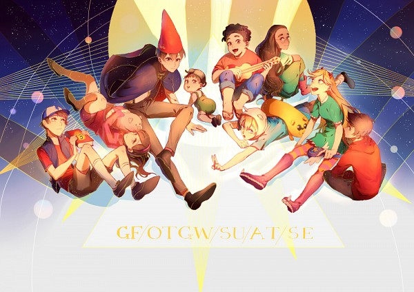 Tags: Anime, Pixiv Id 15994802, Gravity Falls, Over The Garden Wall, Steven Universe, Star vs. the Forces of Evil, Adventure Time, Star Butterfly, Wirt (Over The Garden Wall), Mabel Pines, Connie Maheswaran, Jake the Dog, Steven (Steven Universe)