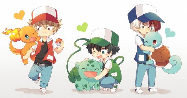 Tags: Anime, 0328uppi, Boku no Hero Academia, Pokémon, Todoroki Shouto, Squirtle, Bakugou Katsuki, Midoriya Izuku, Bulbasaur, Charmander, Red (Pokémon) (Cosplay), Pokémon (Cosplay), Pixiv