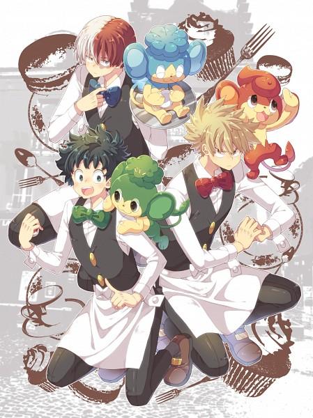 Tags: Anime, 0328uppi, Boku no Hero Academia, Pokémon, Todoroki Shouto, Pansear, Bakugou Katsuki, Panpour, Midoriya Izuku, Pansage, Pokémon (Cosplay), Corn (Pokémon) (Cosplay), Pod (Pokémon) (Cosplay)
