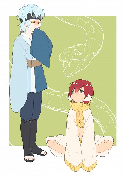 Tags: Anime, Pixiv Id 3453836, Boruto, NARUTO, BLEACH, Mitsuki (NARUTO), Zabimaru, Fanart From Pixiv, Fanart, Pixiv