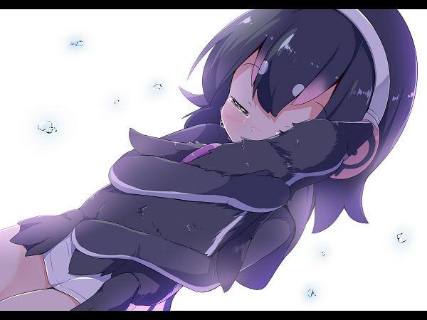 Tags: Anime, Pixiv Id 899657, Kemono Friends, Grape-kun, Humboldt Penguin (Kemono Friends), Hugging Animal, In Memory Of, In Memory Of Grape-kun, Wallpaper