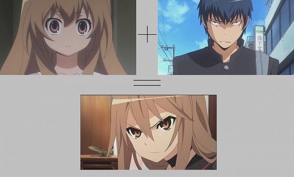 Tags: Anime, Ookami-san to Shichinin no Nakama-tachi, Toradora!, Ookami Ryouko, Aisaka Taiga, Takasu Ryuuji, Wallpaper