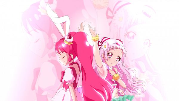Tags: Anime, Pixiv Id 10657252, Kirakira☆Precure a la Mode, HUGtto! Precure, Cure Whip, Nono Hana, Cure Yell, Usami Ichika, Wallpaper, Fanart, Fanart From Pixiv, Pixiv