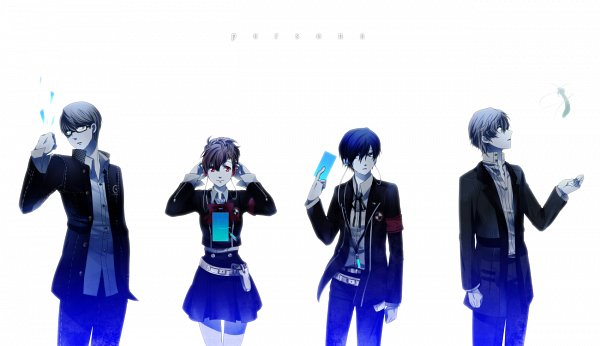 Tags: Anime, Setsu, Persona - Trinity Soul, Persona 3 Portable, Shin Megami Tensei: PERSONA 4, Shin Megami Tensei: PERSONA 3, Female Protagonist (PERSONA 3), Narukami Yu, Yuuki Makoto (PERSONA 3), Kanzato Shin, Fanart From Pixiv, PNG Conversion, Fanart
