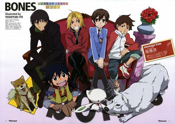 Tags: Anime, Itou Yoshiyuki, BONES (Studio), SQUARE ENIX, Ouran High School Host Club, Wolf's Rain, Hiwou War Chronicles, Darker than Black, Fullmetal Alchemist, Eureka Seven, Sword of the Stranger, Fujioka Haruhi, Edward Elric