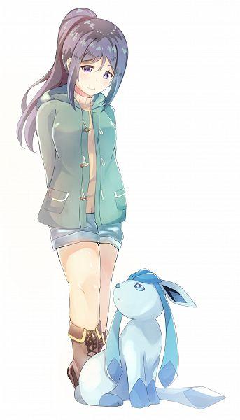 Tags: Anime, Sylux, Love Live! Sunshine!!, Pokémon, Glaceon, Matsuura Kanan