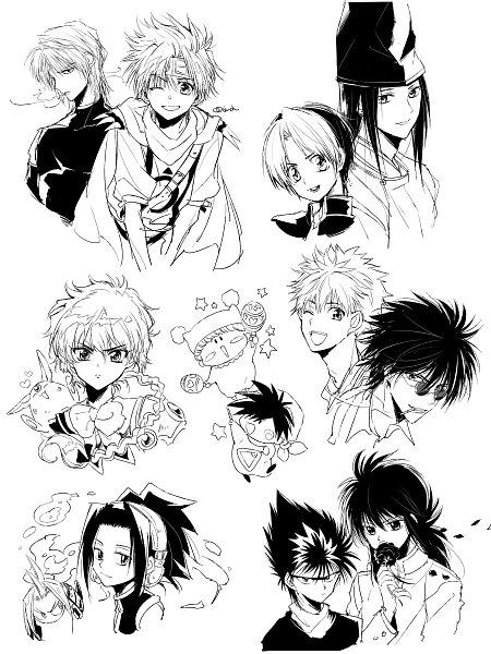 Tags: Anime, Dandel, Yu Yu Hakusho, Mirumo de Pon!, Hikaru no Go, Saiyuki, Getbackers, Magic Knight Rayearth, Shaman King, Fujiwara no Sai, Mirumo, Kurama, Genjyo Sanzo