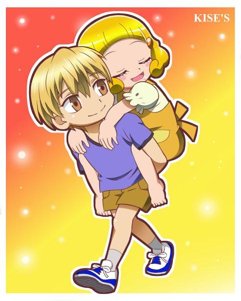 Tags: Anime, Pixiv Id 2917301, Kuroko no Basuke, Smile Precure!, Kise Yayoi, Kise Ryouta, Fanart From Pixiv, Pixiv, Fanart