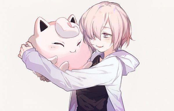 Tags: Anime, Shilla P, Fate/Grand Order, Pokémon, Mash Kyrielight, Shielder (Fate/Grand Order), Jigglypuff, Open Hoodie, Fanart From Pixiv, Fanart, Pixiv