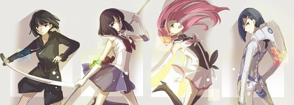 Tags: Anime, Pixiv Id 2024780, Darling in the FranXX, Bishoujo Senshi Sailor Moon, Flip Flappers, DURARARA!!, Sailor Saturn, Cocona (Flip Flappers), Sonohara Anri, Ichigo (Darling in the FranXX), Tomoe Hotaru, Fanart From Pixiv, Fanart