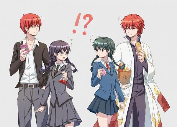Tags: Anime, Cat Princess, Ansatsu Kyoushitsu, Kyoukai no Rinne, Akabane Karma, Rokudou Rinne, Mamiya Sakura, Okuda Manami, Characteristic Connection, Pixiv, Fanart From Pixiv, Fanart