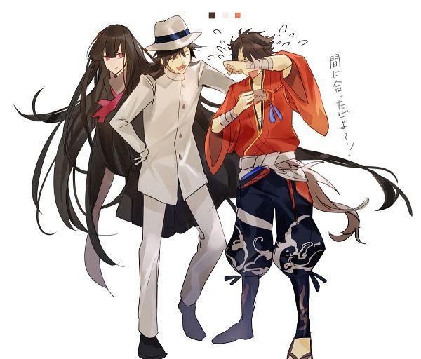 Tags: Anime, Pixiv Id 10337288, Touken Ranbu, Fate/Grand Order, Rider (Koha-Ace), Mutsunokami Yoshiyuki, Oryuu (Koha-Ace)