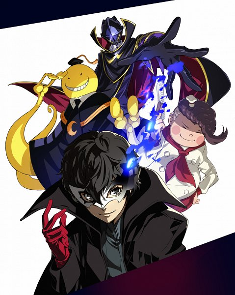 Tags: Anime, Nyoronyoro, CODE GEASS: Hangyaku no Lelouch, Ansatsu Kyoushitsu, Super Danganronpa 2, Shin Megami Tensei: PERSONA 5, Joker (Persona 5), Amamiya Ren (Persona 5), Hanamura Teruteru, Lelouch Lamperouge, Zero (CODE GEASS), Koro-sensei, Pixiv