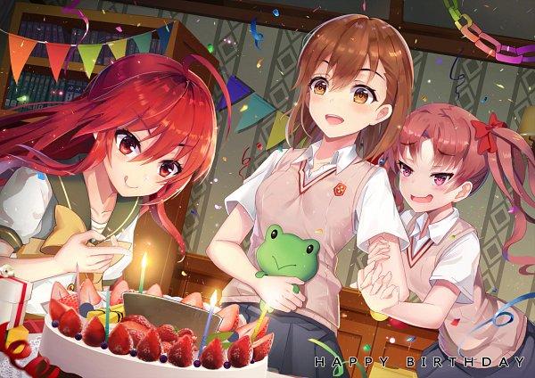 Tags: Anime, Pixiv Id 5391384, Shakugan no Shana, To Aru Majutsu no Index, Shana, Shirai Kuroko, Misaka Mikoto, Pixiv, Fanart From Pixiv, Fanart