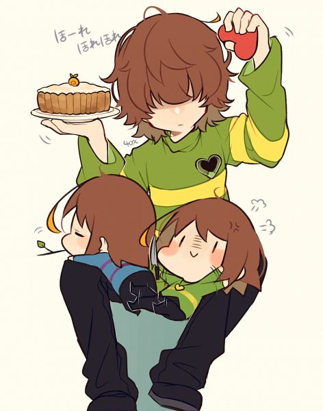 Tags: Anime, Pixiv Id 35276523, Undertale, Deltarune, Chara (Undertale), Frisk, Kris (Deltarune), Fanart, Fanart From Pixiv, Pixiv