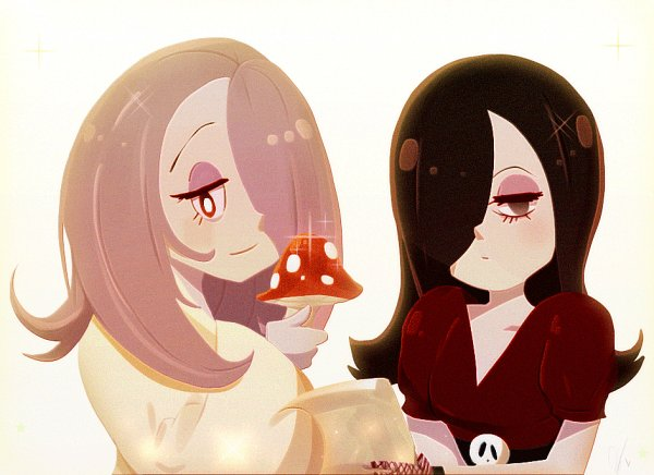 Tags: Anime, Frosty (Artist), The Loud House, Little Witch Academia, Sucy Manbavaran, Haiku, Gothic Outfit, Tumblr, Fanart From Tumblr, Fanart