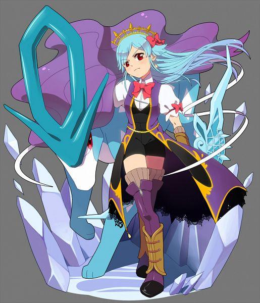 Tags: Anime, Rutiwa, Merc Storia, Pokémon, Suicune, Lyria (Merc Storia), Pixiv, Fanart, Legendary Pokémon