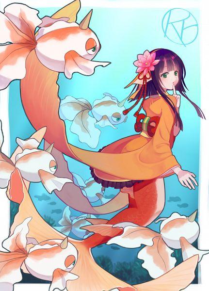 Tags: Anime, Rutiwa, Onmyouji (NetEase), Pokémon, Koi no Sei (Onmyoji), Goldeen, Pixiv, Fanart
