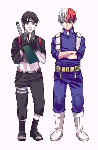 Tags: Anime, Pixiv Id 31236423, Boku no Hero Academia, NARUTO, Sai, Todoroki Shouto