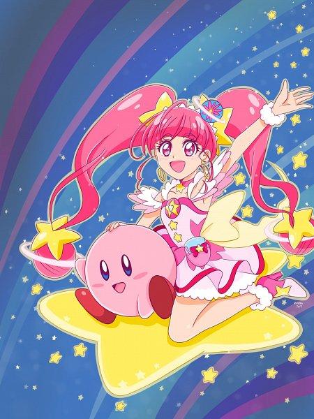 Tags: Anime, Hiromitan, Star☆Twinkle Precure, Kirby Series, Kirby, Hoshina Hikaru, Cure Star, Fanart