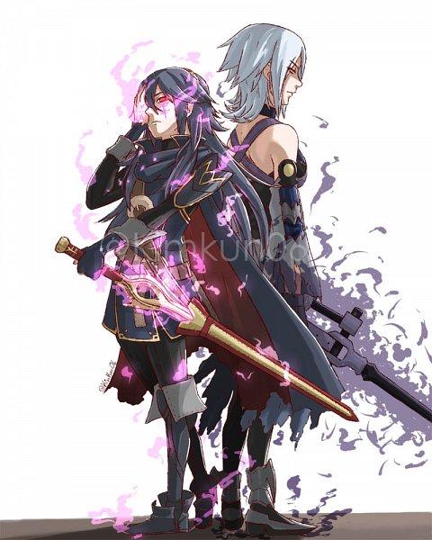 Tags: Anime, Pixiv Id 10272958, Kingdom Hearts III, Fire Emblem: Kakusei, Kingdom Hearts: Birth by Sleep, Aqua (Kingdom Hearts), Lucina (Fire Emblem), Anti-Aqua, Fanart From Pixiv, Pixiv, Fanart