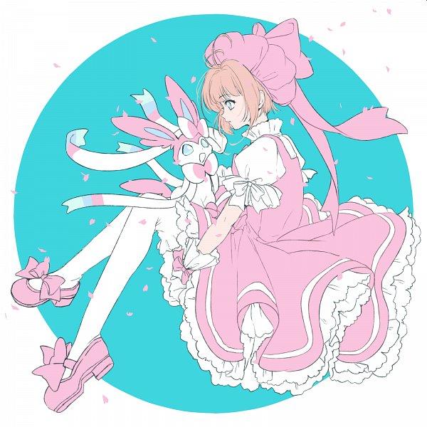 Tags: Anime, Kisumi Rei, Cardcaptor Sakura, Pokémon X & Y, Pokémon, Sylveon, Kinomoto Sakura, Fanart, Fanart From Pixiv, Pixiv