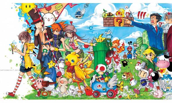Tags: Anime, Cartoongirl7, Bomberman Jetters, Super Mario Bros., Subarashiki Kono Sekai, Zelda no Densetsu, Pikmin, Pokémon, Bokujou Monogatari, Makai Senki Disgaea, Kirby Series, Reiton-kyouju, Gyakuten Saiban