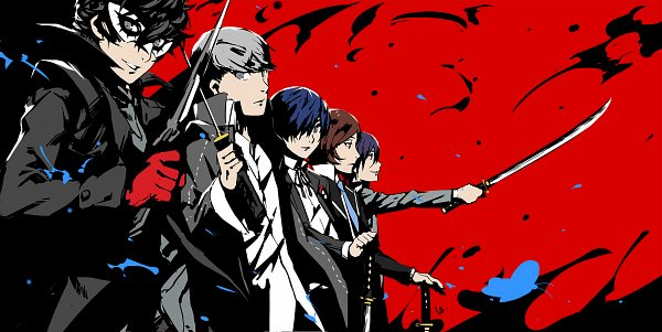Tags: Anime, Nanaya (Daaijianglin), SHIN MEGAMI TENSEI: PERSONA 2, Shin Megami Tensei: Persona, Shin Megami Tensei: PERSONA 4, Shin Megami Tensei: PERSONA 3, Shin Megami Tensei: PERSONA 5, Narukami Yu, Joker (Persona 5), Suou Tatsuya, Amamiya Ren (Persona 5), Yuuki Makoto (PERSONA 3), Naoya Toudou