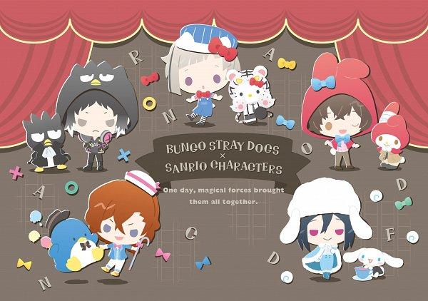Tags: Anime, Sanrio, Bungou Stray Dogs, Badtz-maru, Tuxedo Sam, Nakajima Atsushi (Bungou Stray Dogs), Cinnamoroll, Fyodor Dostoyevsky, Hello Kitty, Nakahara Chuuya (Bungou Stray Dogs), Akutagawa Ryuunosuke (Bungou Stray Dogs), My Melody, Dazai Osamu