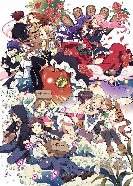 Tags: Anime, Pixiv Id 9447227, Sarazanmai, Yuri Kuma Arashi, Shoujo Kakumei Utena, Mawaru Penguindrum, Tenjou Utena, Tsubaki Kureha, Takakura Himari, Himemiya Anthy, Takakura Kanba, Natsume Masako, Jinnai Enta