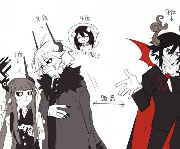 Tags: Anime, Pixiv Id 14368178, Obsolete Dream, Gray Garden, Etihw, Kurotsuno, Kcalb (Gray Garden), Satanick, Fanart From Pixiv, Pixiv, Fanart, Deep-Sea Prisoner