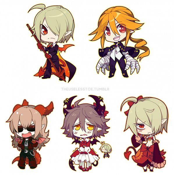 Tags: Anime, Gray Garden, Oounabara to Wadanohara, Rieta, Vendetto, Emalf (Gray Garden), Tumblr, Fanart, Fanart From Tumblr