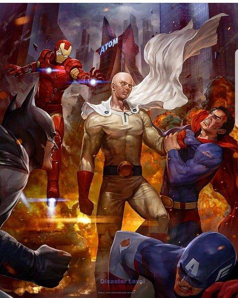 Tags: Anime, Superman, One Punch Man, Iron Man, Batman, Batman (Character), Superman (Character), Anthony Edward Stark, Captain America, Steven Rogers, Iron Man (Character), Kal-el, Bruce Wayne