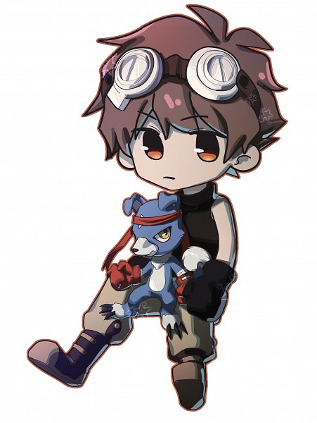 Tags: Anime, Pixiv Id 16534958, Digimon Savers, Tsubasa: RESERVoir CHRoNiCLE, Gaomon, Li Syaoran (TRC)