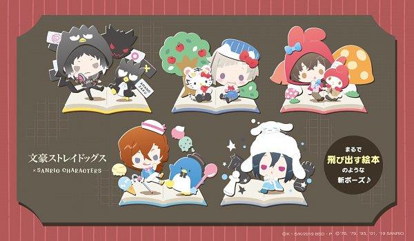Tags: Anime, Sanrio, Bungou Stray Dogs, Akutagawa Ryuunosuke (Bungou Stray Dogs), Hello Kitty, Dazai Osamu, Tuxedo Sam, Nakajima Atsushi (Bungou Stray Dogs), Fyodor Dostoyevsky, My Melody, Badtz-maru, Nakahara Chuuya (Bungou Stray Dogs), Cinnamoroll