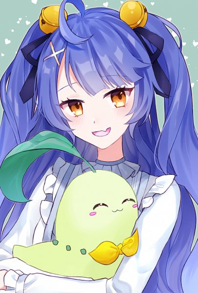 Tags: Anime, Pixiv Id 1631945, Amamiya Kokoro (Channel), Nijisanji, Pokémon, Chikorita, Amamiya Kokoro, Fanart, Fanart From Pixiv, Pixiv