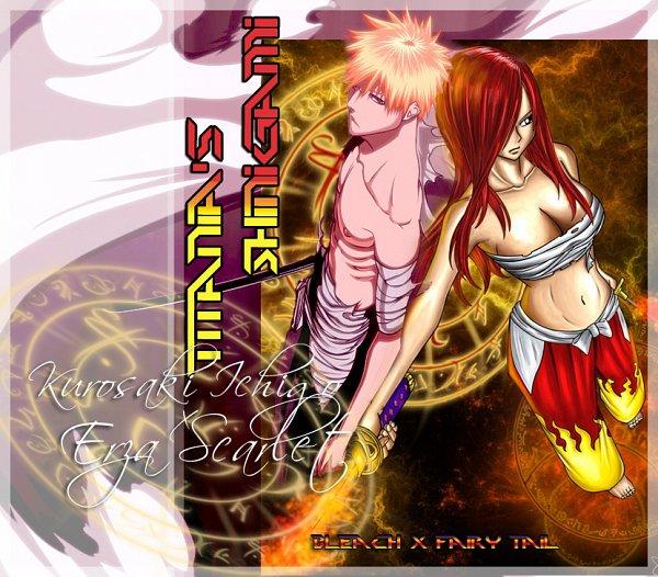 Tags: Anime, FAIRY TAIL, BLEACH, Kurosaki Ichigo, Erza Scarlet, Artist Request, deviantART